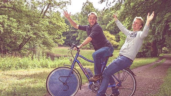 bicicleta energia solar