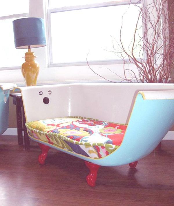 Reciclar una bañera en un sillón