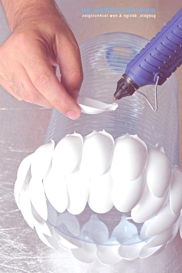 Reciclar cucharas de plástico