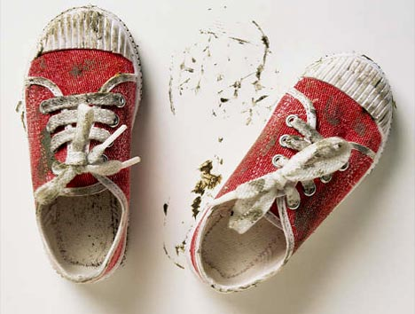 zapatos polvo