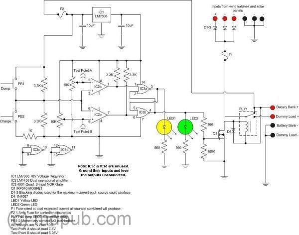 circuito electronico aerogenerador