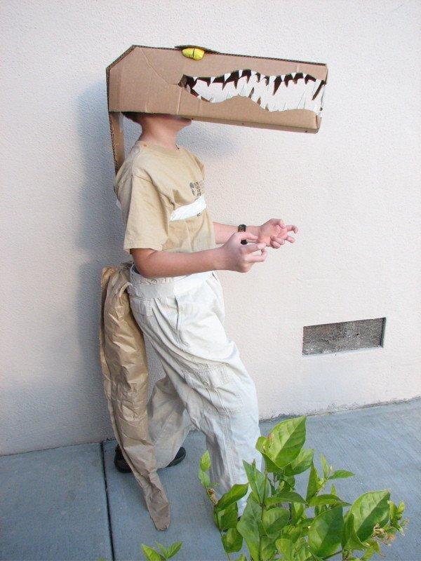 cocodrilo disfraz carton