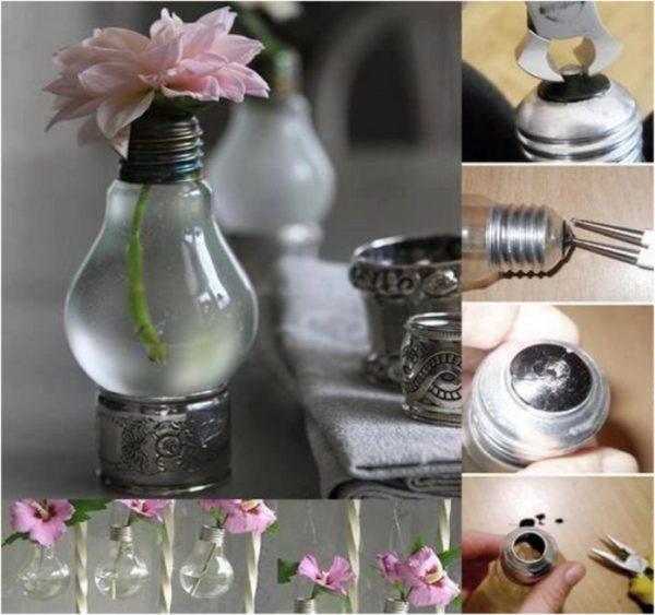 reciclar-cosas-viejas-bombillas-transformadas-en-floreros