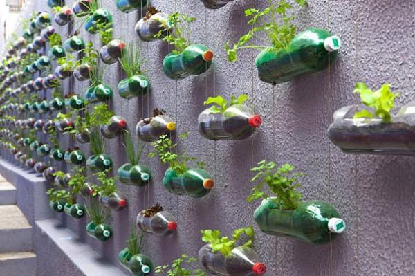 reciclar-cosas-viejas-botellas-de-plastico-convertidas-en-maceteros