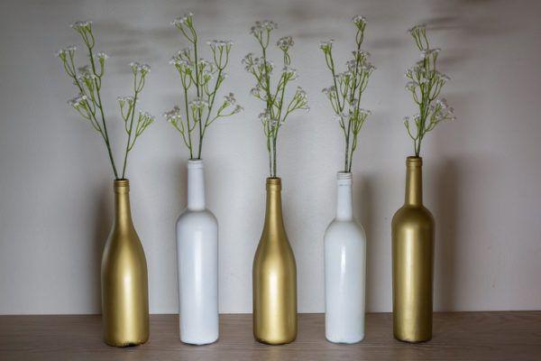 Como decorar botellas de cristal o de vidrio con pintura