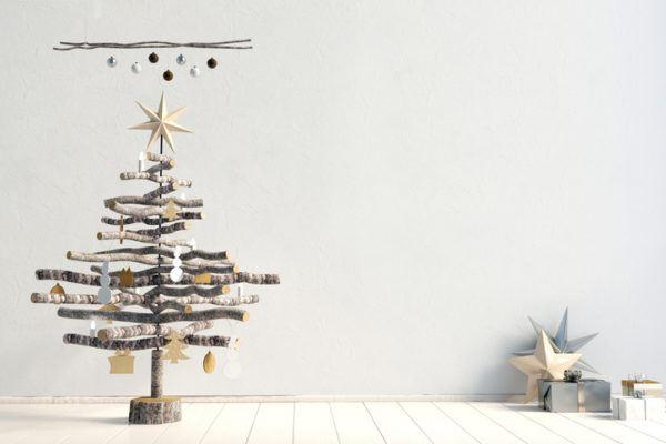 Arboles de navidad con ramas grandes