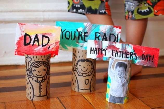 Manualidades para el Día del Padre con materiales reciclados 2021