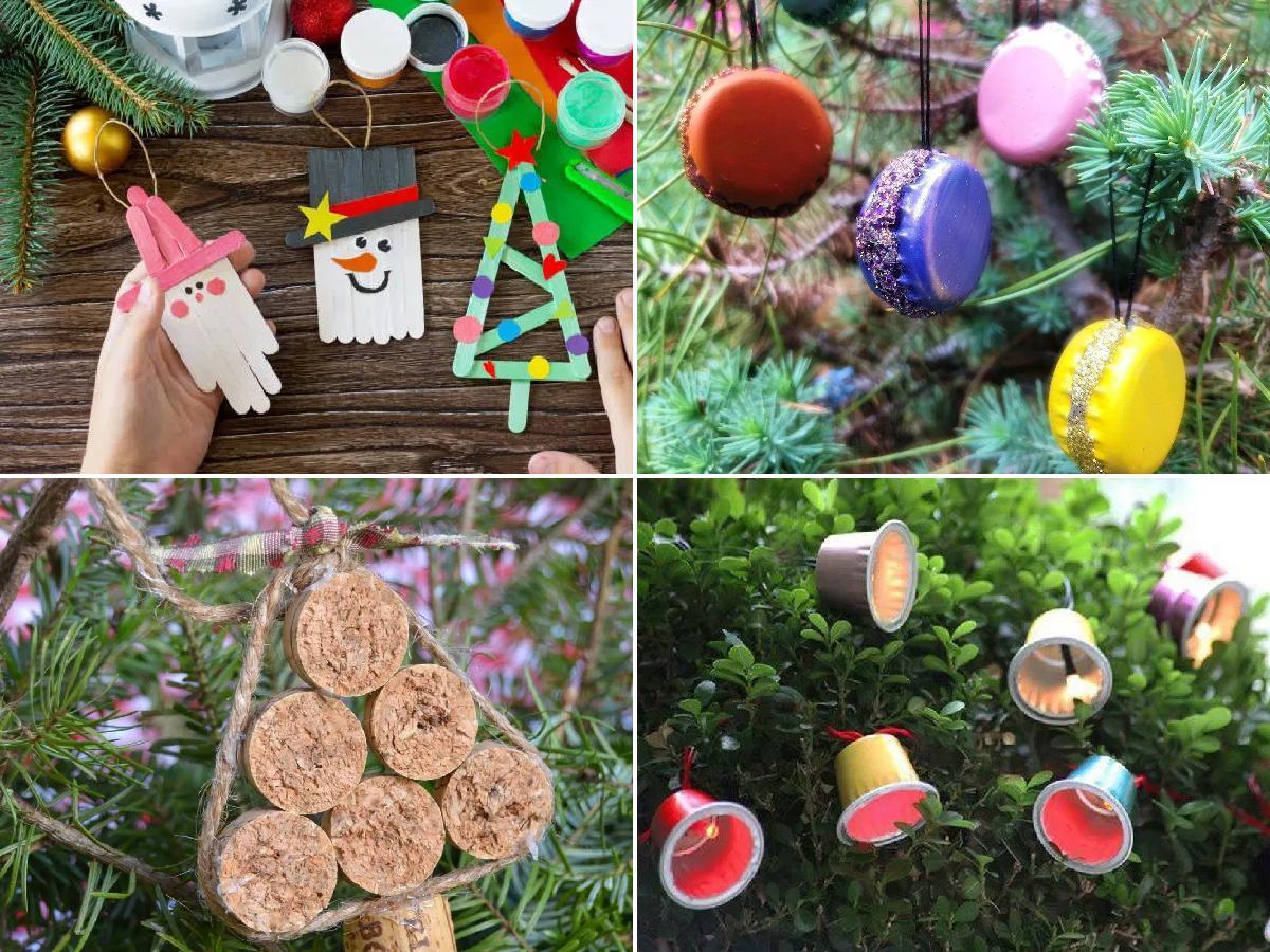 Adornos de Navidad con materiales reciclados 2020