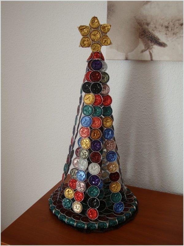 Donde reciclar capsulas cafe arbol navidad