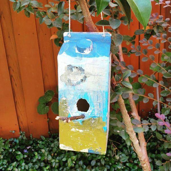 Manualidades recicladas cartones nido pajaros