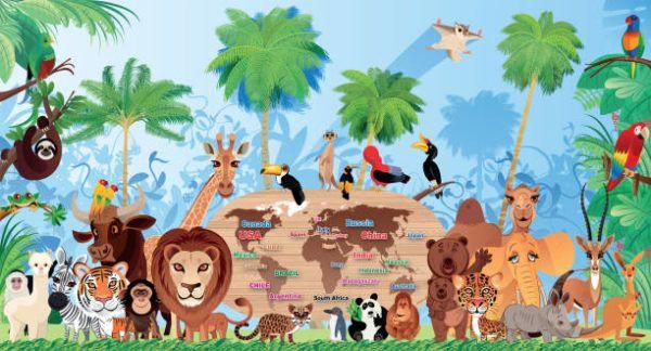 Mejores dibujos medio ambiente animales salvajes