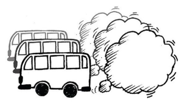 Mejores dibujos medio ambiente coches humo