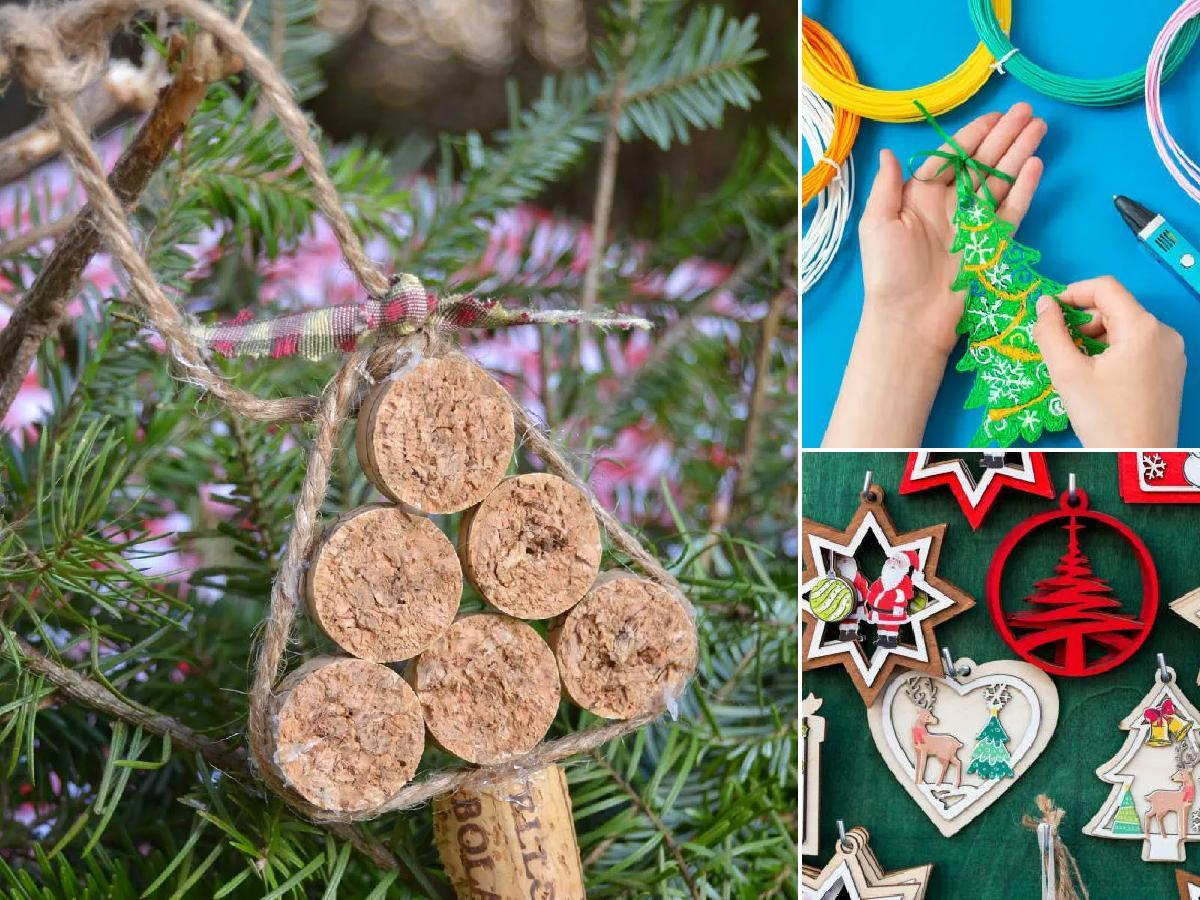 Árboles de Navidad con materiales reciclados 2021