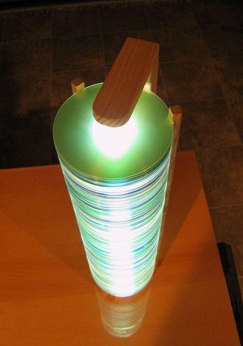 Mejores manualidades e ideas para reciclar CD lámpara Led