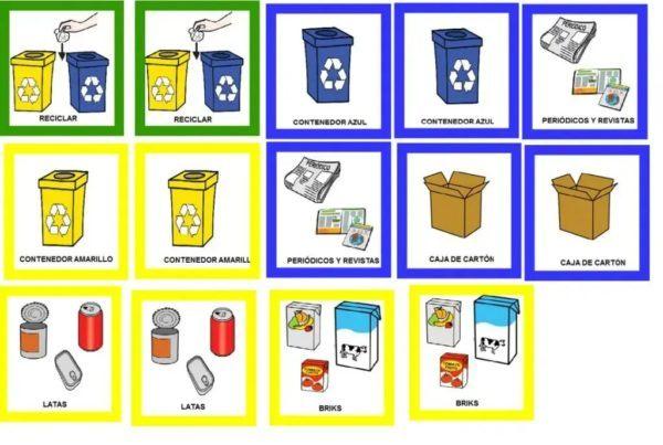 Mejores juegos reciclar niños tarjetas ecoembes