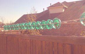 Pequeñas turbinas de viento de plástico para uso hogareño