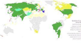 Mapa con las plantas nucleares del mundo