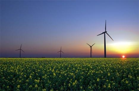 aerogeneradores al sol