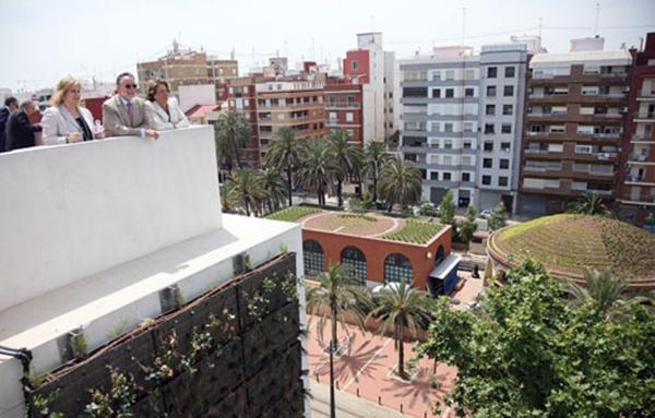 jardines verticales y cubiertas verdes en valencia