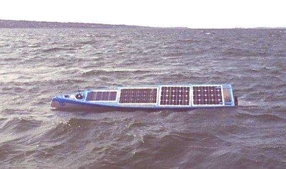 Un Barco Solar robótico en un viaje transatlántico