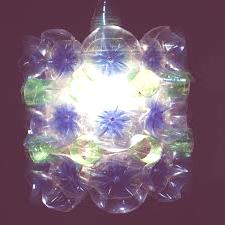 plástico reciclado para lámpara