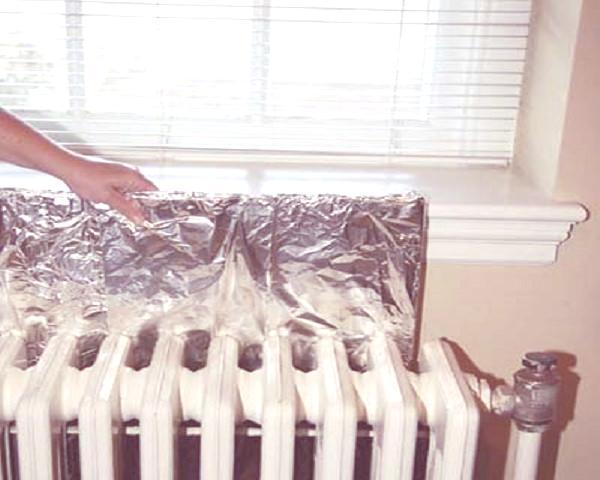 Calefacción papel-aluminio