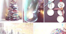 Decoración Navideña con Materiales Reciclados