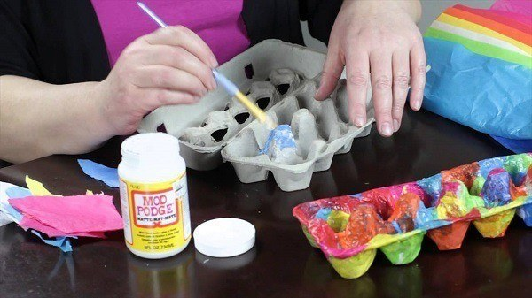 reutilizar cajas de huevos