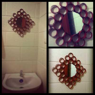 reciclar-cosas-viejas-cartones-rollo-higienico-convertido-en-espejo
