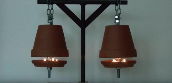 El vídeo que nos enseña a hacer un sistema de calefacción una maceta para calentar una habitación