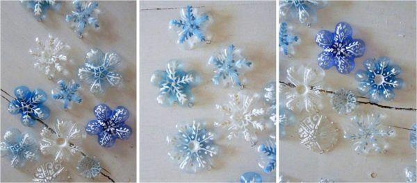 adornos-navidenos-reciclados-con-botellas-copos-de-nieve