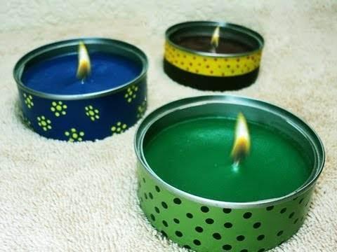 C mo hacer velas decoradas con material reciclado - Soportes para velas ...