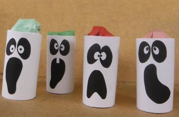 Manualidades de halloween con rollos de - Rollos de papel higienico decorados ...