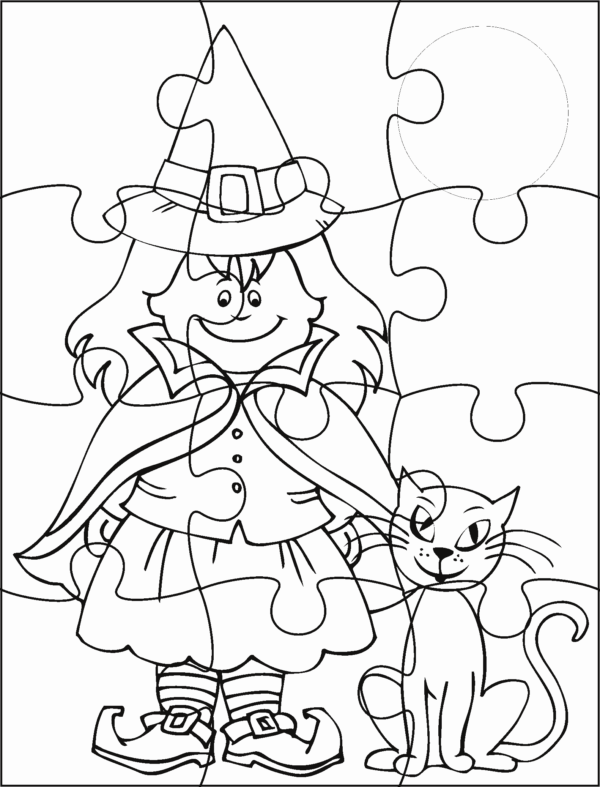 manualidades-de-halloween-para-ninos-para imprimir-puzzle-bruja