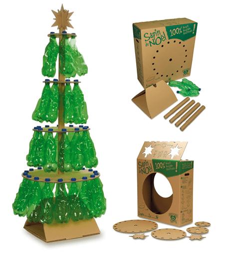 De 50 fotos rboles de navidad reciclados rbol de for Articulos de decoracion para navidad