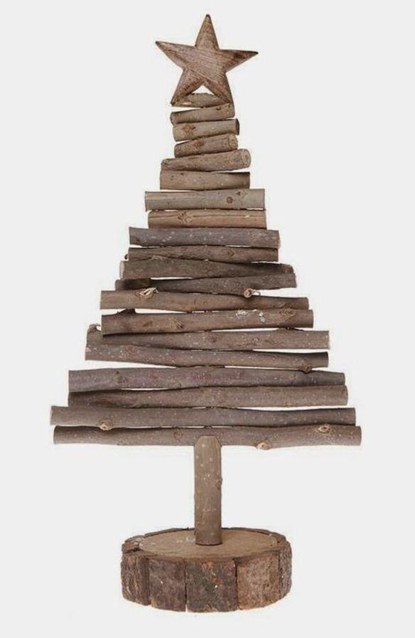 arbol navidad ecologico troncos de madera - Arbol De Navidad De Madera