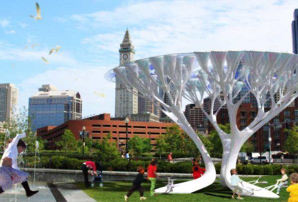 Treepods arboles artificiales que eliminan CO2