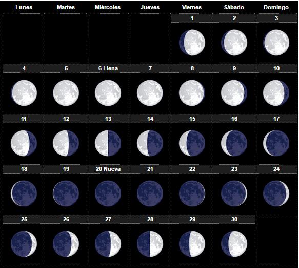 El calendario lunar diciembre 2017 para huerto y el jard n for Fases lunares del 2016