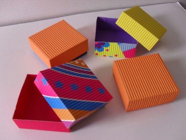 C mo hacer cajas de cart n a medida paso - Cajas grandes de carton decoradas ...