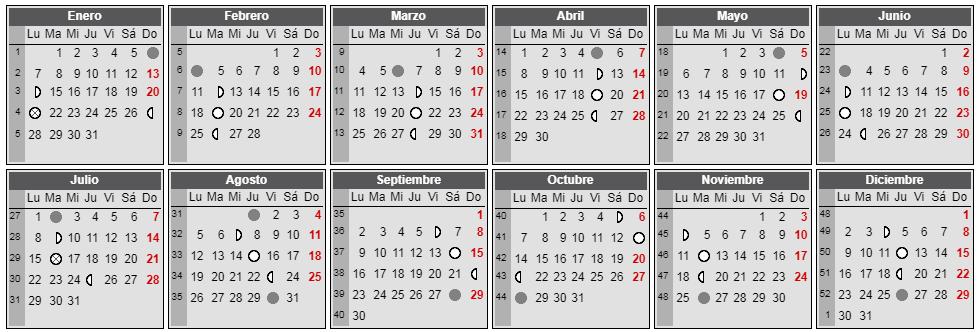 Calendario Lunar Cannabico 2019 Espana.Top 10 Punto Medio Noticias Calendario Lunar Mes De Mayo 2019 Colombia