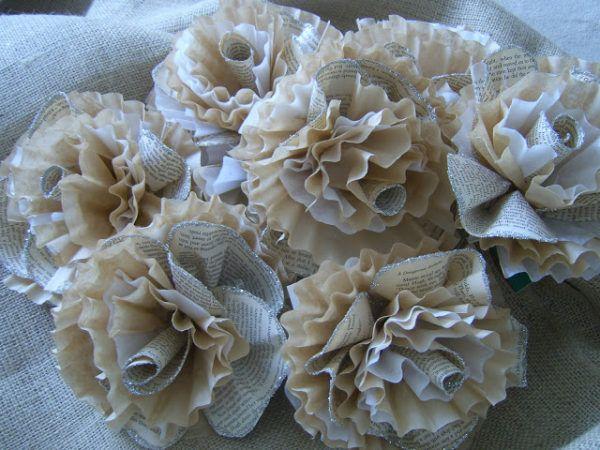 Como hacer las mejores flores de papel con material reciclado papel periodico